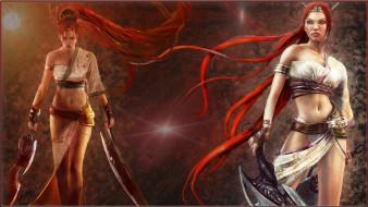 Нарико, рыжая, оружие