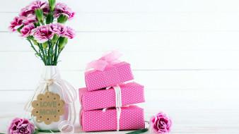 букет, надпись, гвоздика, подарки