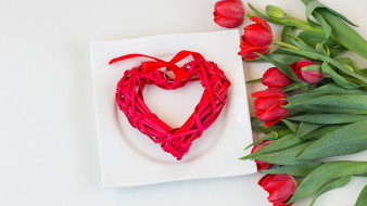тюльпаны, сердце