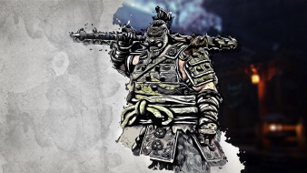 оружие, маска, доспехи, самурай