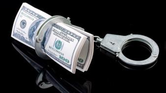 наручники, доллары