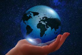 планета, Земля, ладонь