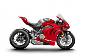 ducati panigale v4, мотоциклы, ducati, panigale, v4, байк, мотоцикл, красный