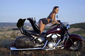 мотоциклы, мото с девушкой, сапоги