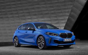 немецкие автомобили, хэтчбек, синий, 2020, bmw m135i xDrive, экстерьер, вид спереди, bmw 1, новый