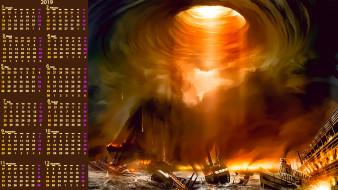 кораблекрушение, пожар, катастрофа, корабль, водоем, calendar