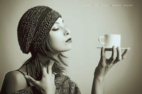 кружка, посуда, чашка, лицо, профиль, шапка, женщина, calendar