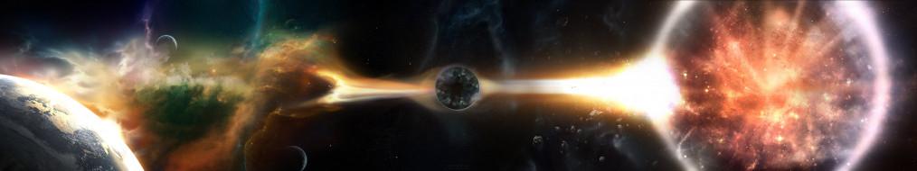 космос, арт, звезды, вселенная, галактика, планеты