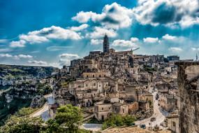город, дома, регион базиликата, италия, облака, коммуна, небо, ирсина