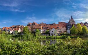 немецкие города, летние путешествия, безигхайм, городской вид, европа, германия, баден-вюртемберг