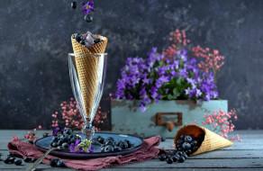 черника, мороженое