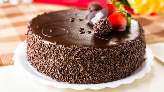 еда, торты, шоколадный, торт, клубника