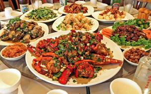 морепродукты, закуски, салаты