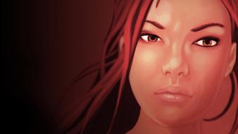рыжая, Нарико, девушка, лицо