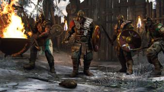 огонь, викинги, ворота