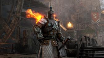 замок, крепость, огонь, латы, рыцарь