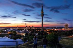 города, мюнхен , германия, вышка