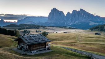 горы, жилой, дом