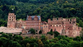 города, гейдельберг , германия, замок