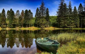 лодка, река, лето