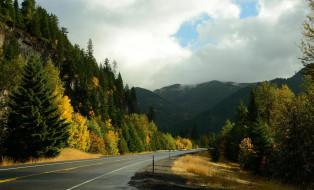 шоссе, горы