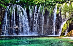 поток, вода, водопад
