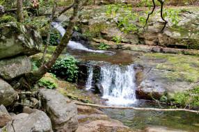 водопад, вода, поток
