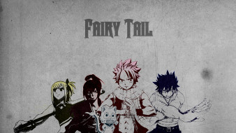 аниме, fairy tail, lucy, happy, gray, erza, slayers, natsu, волшебник, dragneel, маг, чародей