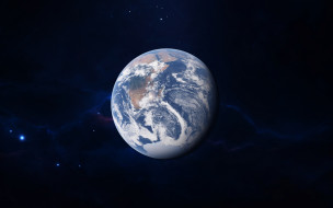 космос, земля, звезды, планета, галактика, вселенная