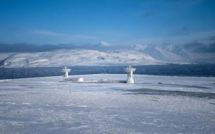 космос, разное, другое, небо, лёд, снег, антенна