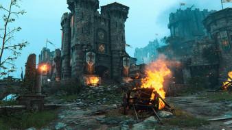 огонь, замок, крепость