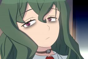аниме, shimoneta, фон, взгляд, девушка