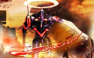 аниме, evangelion, монстр, робот, меха, eva