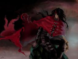 аниме, final fantasy, vincent, valentine, воин, мужчина