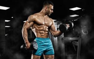 спорт, body building, фон, взгляд, мужчина