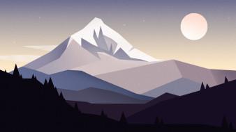векторная графика, природа , nature, небо, горы