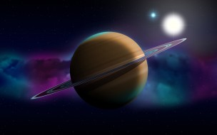 космос, сатурн, звезды, галактика, вселенная, планета