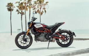 американские мотоциклы, 2019 Indian FTR1200, вид сбоку