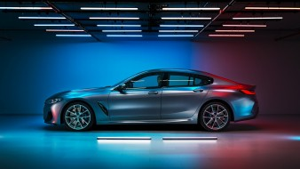седан, премиум класс, 2019 bmw m850i xDrive gran coupe, профиль