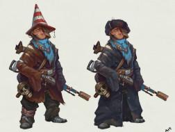 обноски, череп, мальчик, оружие