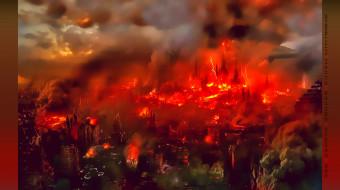 calendar, пламя, 2019, город, здание, пожар