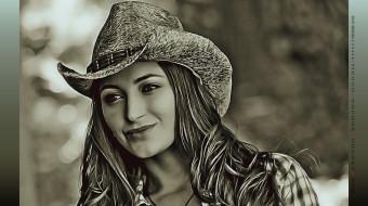 лицо, улыбка, девушка, шляпа, женщина, calendar, 2019