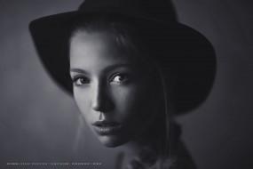 2019, calendar, женщина, взгляд, лицо, девушка, шляпа
