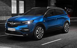 opel grandland x, немецкие автомобили, кроссовер, новинки авто, синий, 2019, вид спереди, внешность, компактный