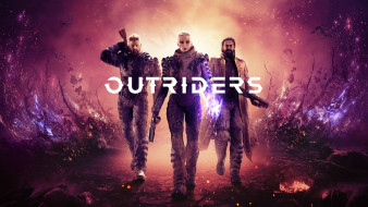 outriders, e3 2019, шутер, постер, people can fly, square enix
