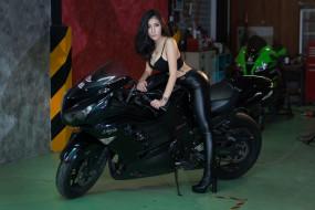 ZX-14R, мотоцикл, Ninja, Kawasaki, байкерша