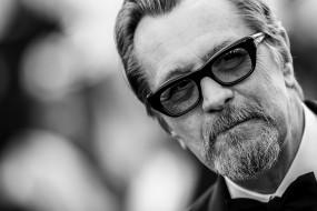 мужчины, gary oldman, актер, лицо, борода, очки