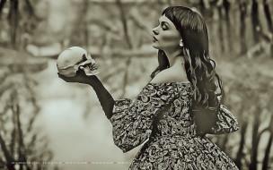 череп, девушка, женщина, calendar, 2019