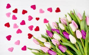 праздничные, день святого валентина,  сердечки,  любовь, сердечки, цветы
