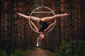 спорт, гимнастика, фон, взгляд, девушка
